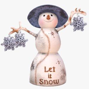 snowman figurine 3D