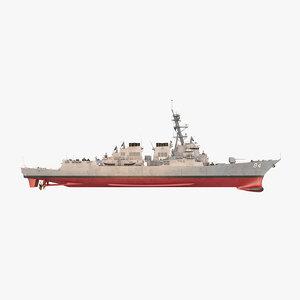3D model uss bulkeley ddg