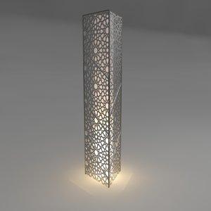 3D arabic floor lamb