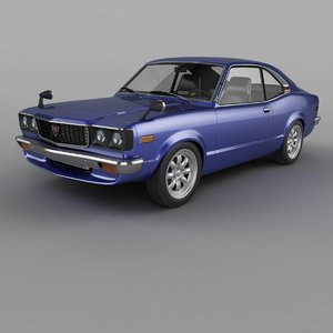 1974 mazda rx3 savanna 3D model