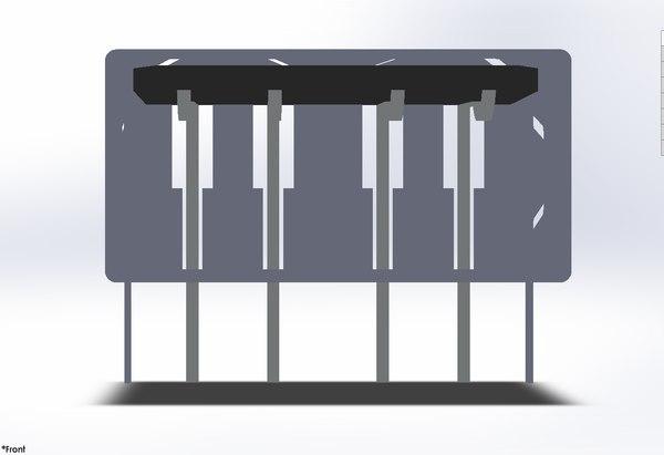 3D usb port shell
