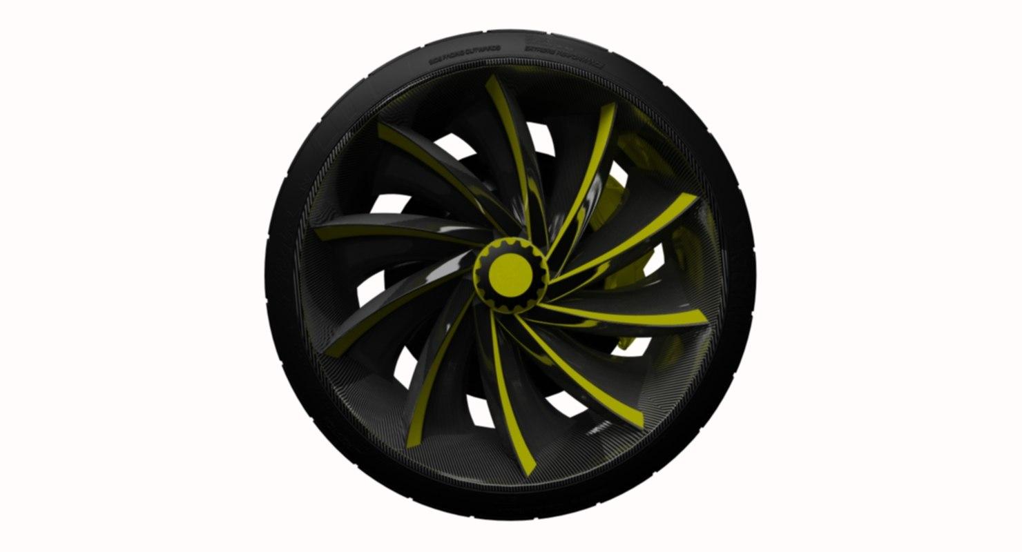 conceptually wheel tire 3D model