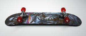 3D skateboard octane model