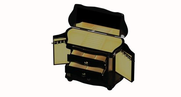 jewelry box drawers 3D