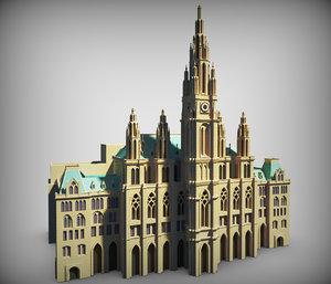 rathaus building 3d max