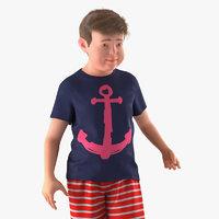 Realistic Modern Teenage Boy Rigged for Maya 3D Model