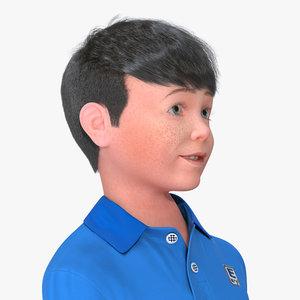 3D realistic teenage boy rigged