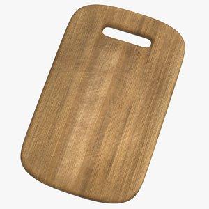realistic chopping board model
