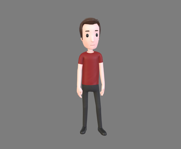 man cartoon character animations model