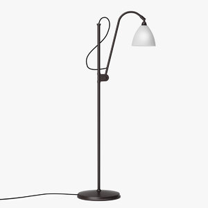 3D gubi bl3 floor lamp model