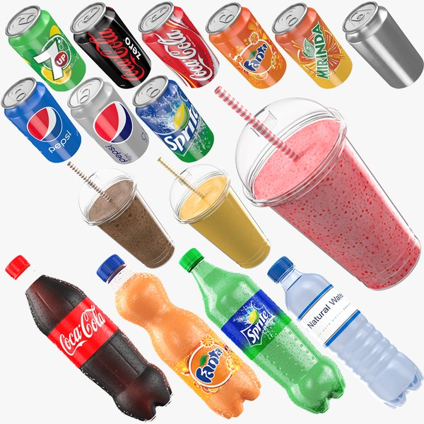beverages bottle shake 3D