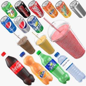 beverages bottle shake 3D