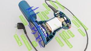 oscillatory grinder oscilla 3D model