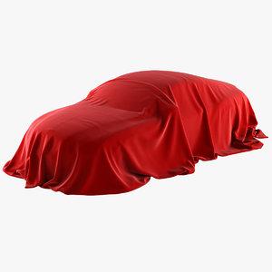 realistic cover car velvet 3D model