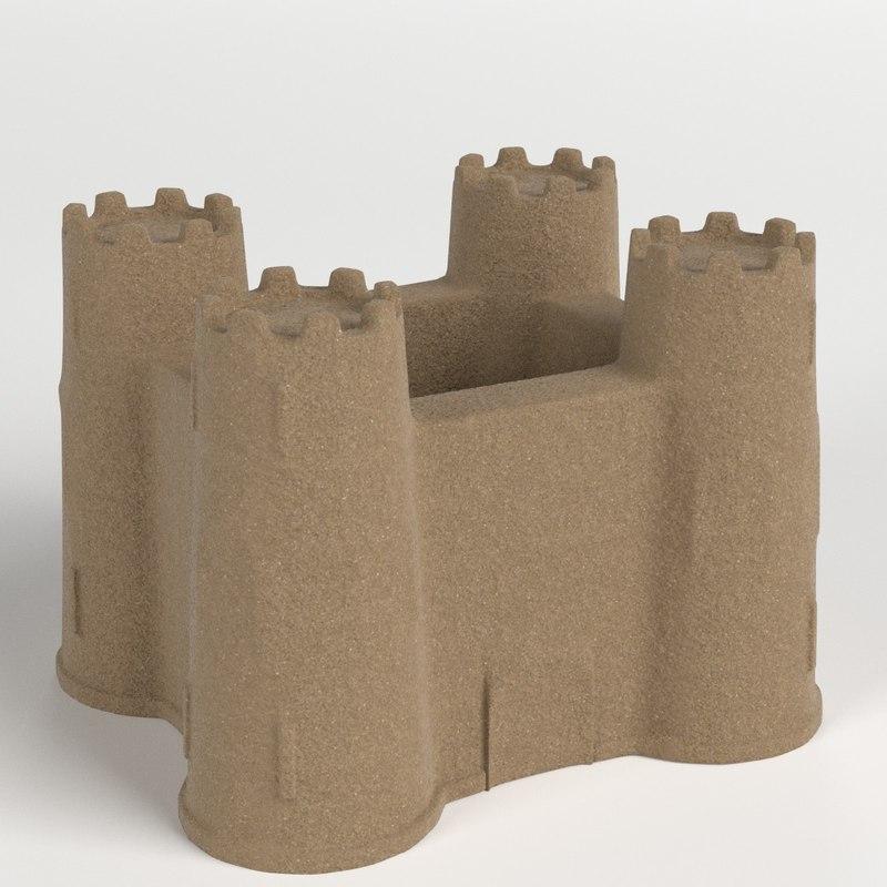 sand castle 3D model
