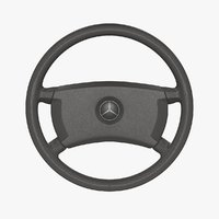 mercedes-benz 190 e steering wheel 3D model