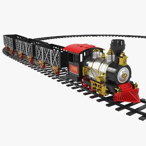 3D classic train set kids