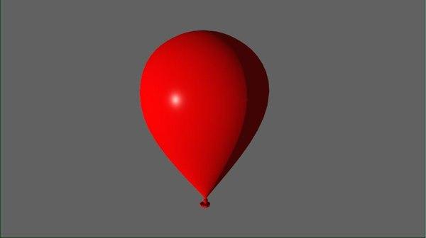 balloon rubber 3D model