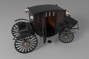 3D realistic vintage luxury carriage