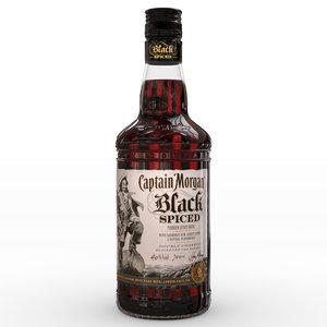captain morgan black spiced 3D model