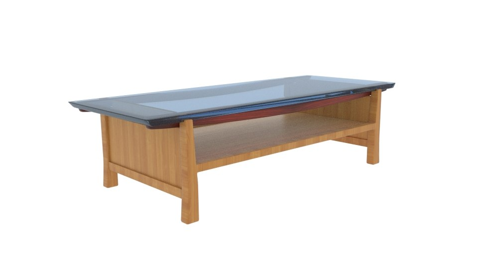Japanese Coffee Table.Homestyle Japanese Glass Coffee Table