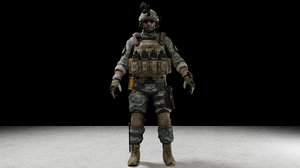 3D soldier character
