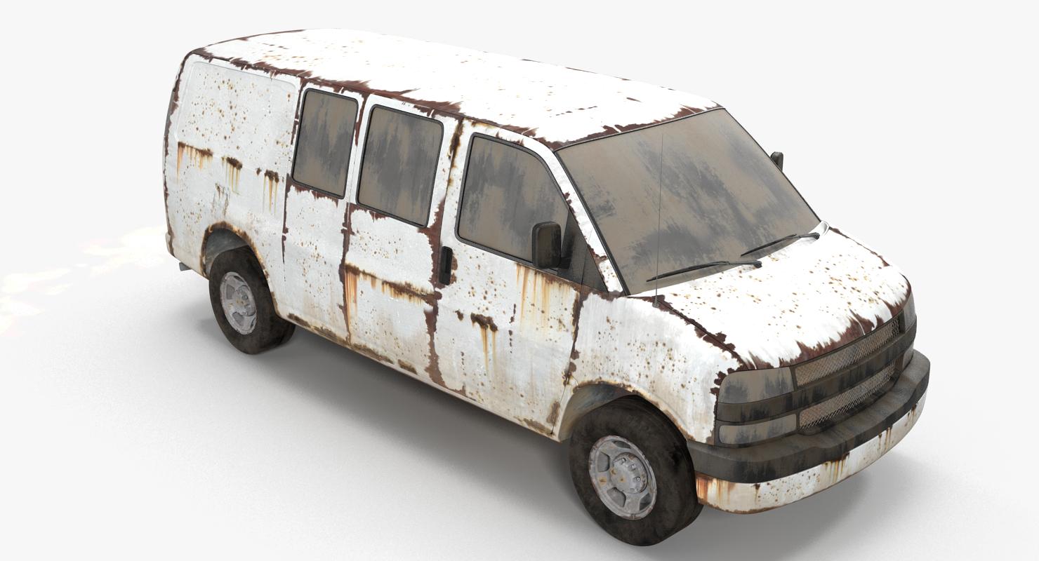 3D rusty van model