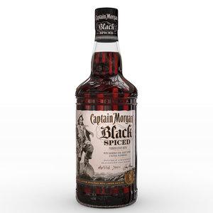 captain morgan black spiced model