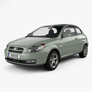 3D hyundai accent mc