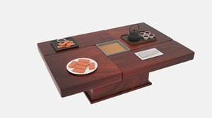 3D model japanese coffee table l110