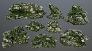 3D rock gate model