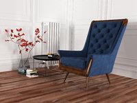 velvet armchair 3D