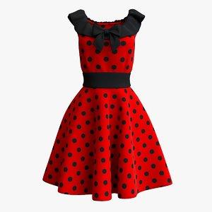 vintage red dress model