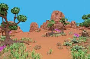 cartoon set 3D model