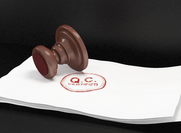 3D rubber stamp model