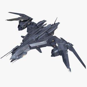 sci-fi fighter drone 3D model