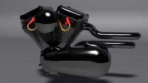 3D motor engine model