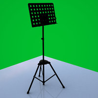 3D music stand model