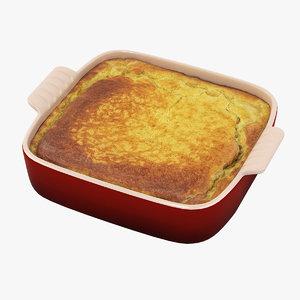 3D caserole dish