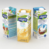 Alpro 1L Carton Soya Almond Coconut Collection