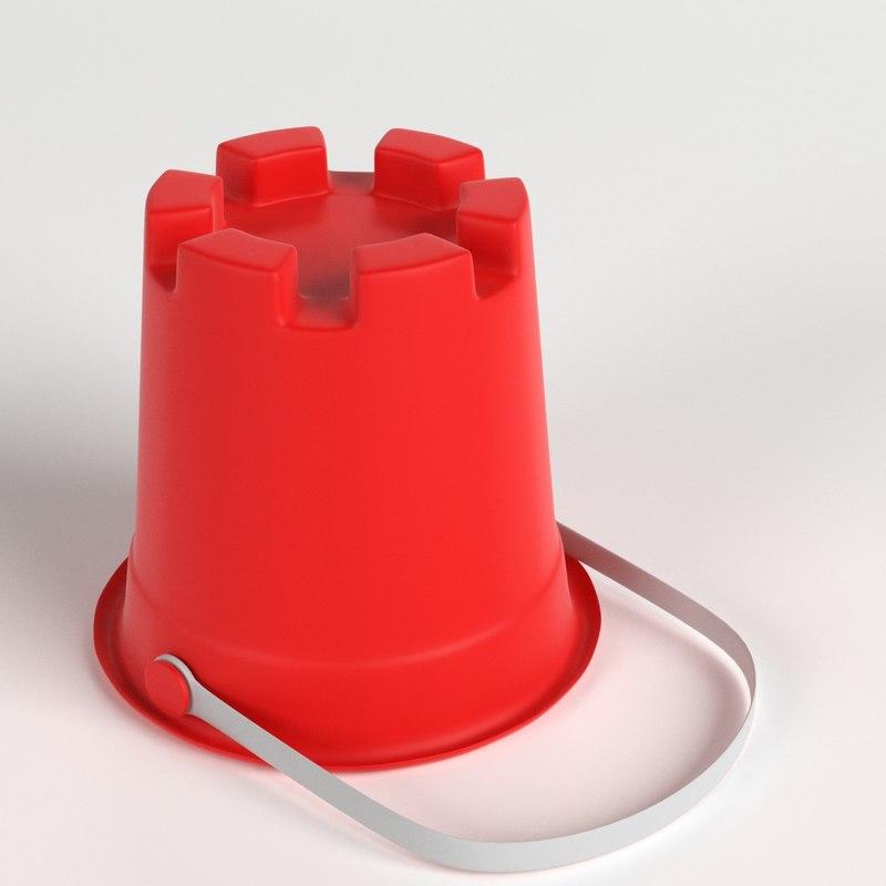 3D model sand tower bucket