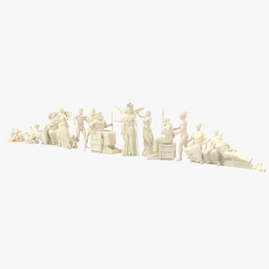 3ds statue parthenon pediment