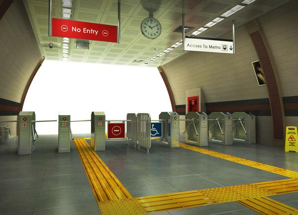 subway station 3D