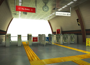 subway station 3D