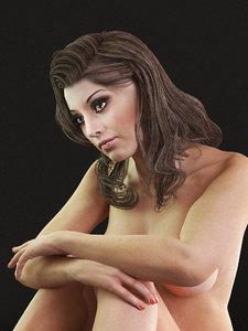 3D nude woman