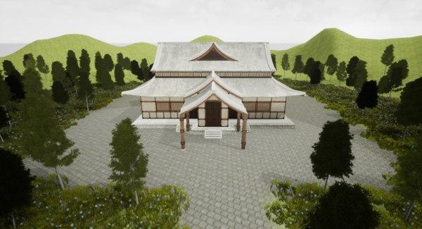 3D japanese temple model