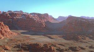 desert cayon 3D model