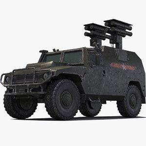 atgm kornet d-1 armata 3d max