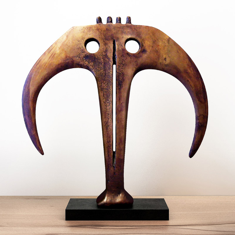 abstract bronze sculpture circa model
