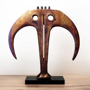 abstract bronze sculpture circa model